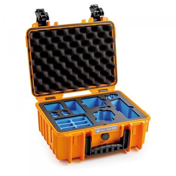 B&W Osmo Case Typ 3000 für DJI Osmo Action orange