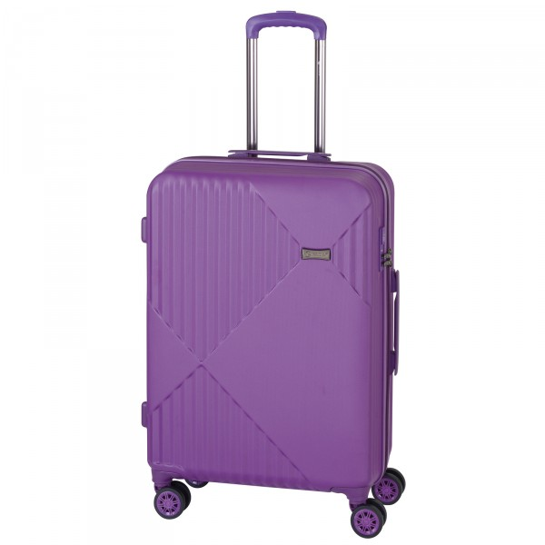 CHECK.IN Liverpool Trolley 78 cm 4 Rollen ultraviolett Frontansicht