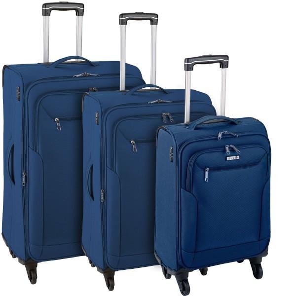 d&n Travel Line 6804 Trolley-Set 55/66/76 cm 4 Rollen blau