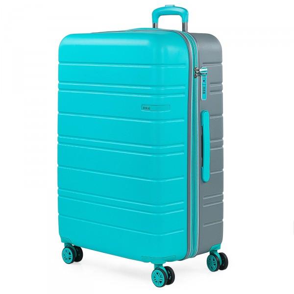 JASLEN San Marino Trolley 77 cm 4 Rollen erweiterbar turquoise/silver