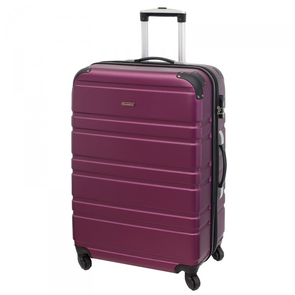 CHECK.IN Paradise Bern Trolley 75 cm 4 Rollen lila Frontansicht