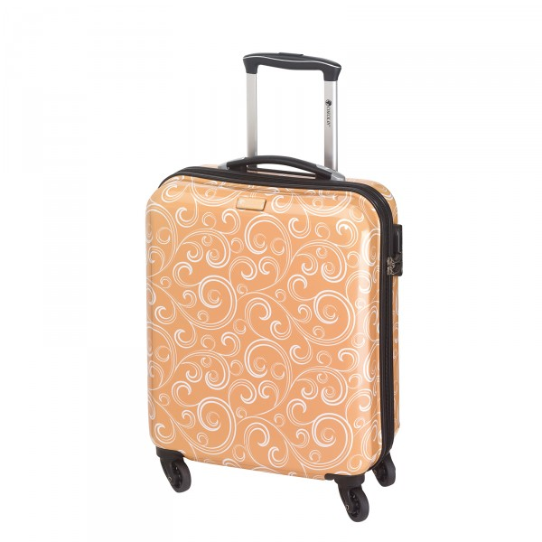 CHECK.IN Bombay Kabinentrolley 54 cm 4 Rollen apricot Frontansicht