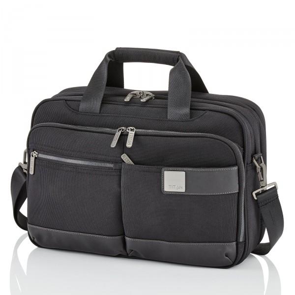 TITAN Power Pack Laptoptasche 40 cm erweiterbar Black