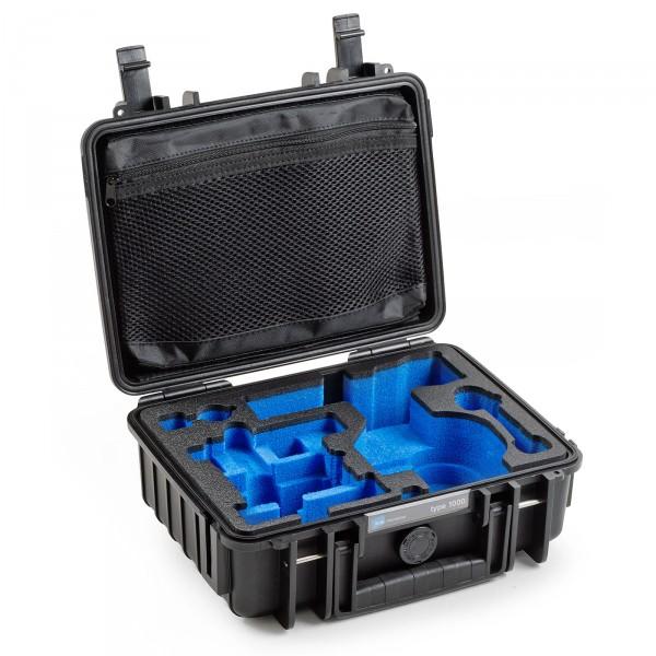 B&W Osmo Case Typ 1000 für DJI OSMO X3 / Plus schwarz Innenansicht leer