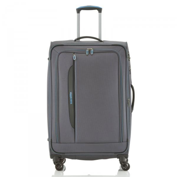 travelite CrossLITE Trolley 77 cm 4 Rollen erweiterbar anthrazit - Frontansicht