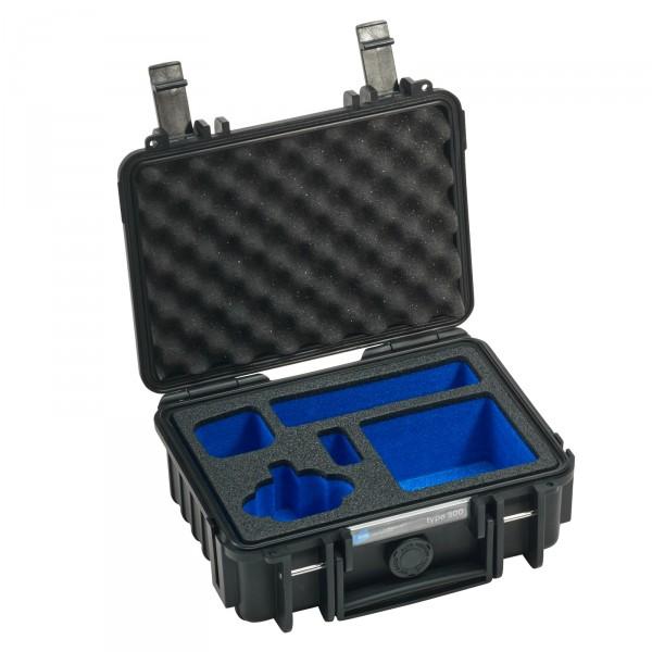 B&W GoPro Case Typ 500 schwarz - Mit Schaumstoffeinsatz für GoPro HERO4 Session