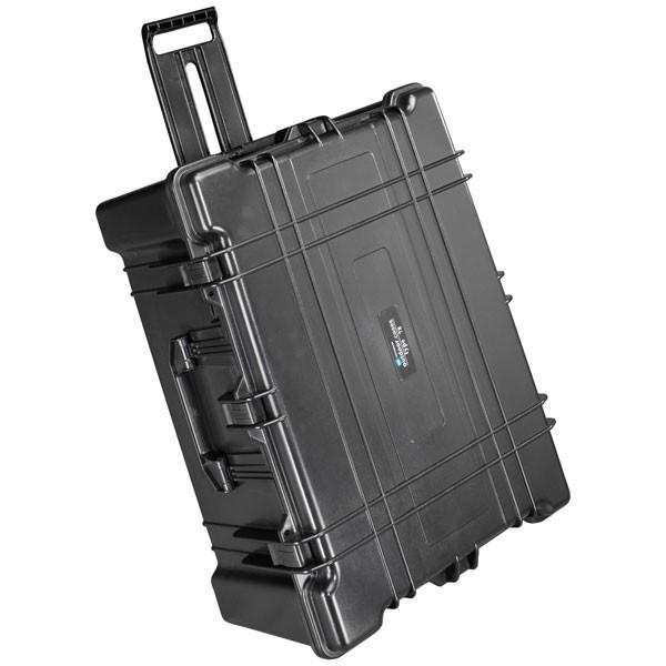 B&W Outdoor Case Typ 78 2 Rollen schwarz - geschlossen