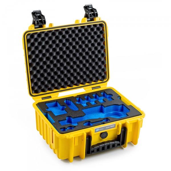 B&W Osmo Case Typ 3000 für DJI OSMO Plus / DJI OSMO X3 gelb Innen leer