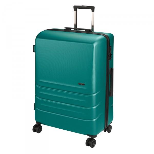 d&n Travel Line 9800 Trolley 64 cm 4 Rollen grün-petrol Schrägansicht