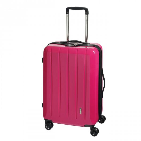 CHECK.IN London 2.0 Trolley 67 cm 4 Rollen erweiterbar pink Frontansicht