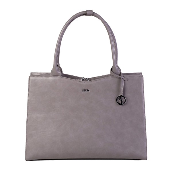 SOCHA Business-Handtasche Straight Line 44 cm Mud Frontansicht
