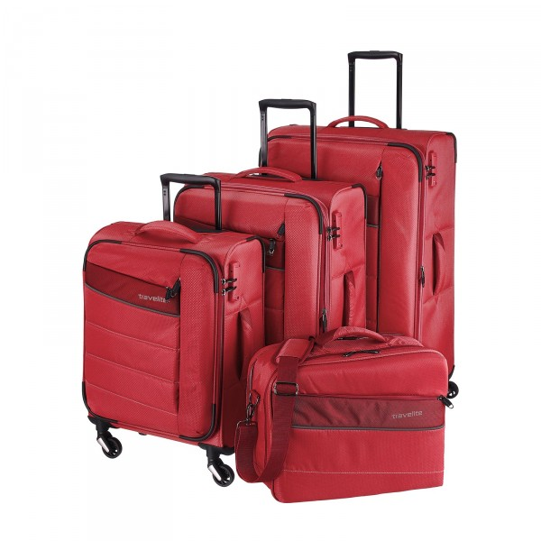 travelite Kite Trolley Set 4-teilig rot