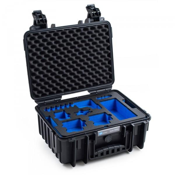 B&W GoPro Case Typ 3000 in schwarz für GoPro Hero 5 - Front