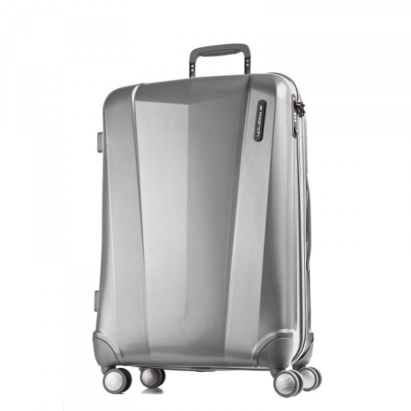March15 Vision Trolley silber 68 cm 4 Rollen - Frontansicht