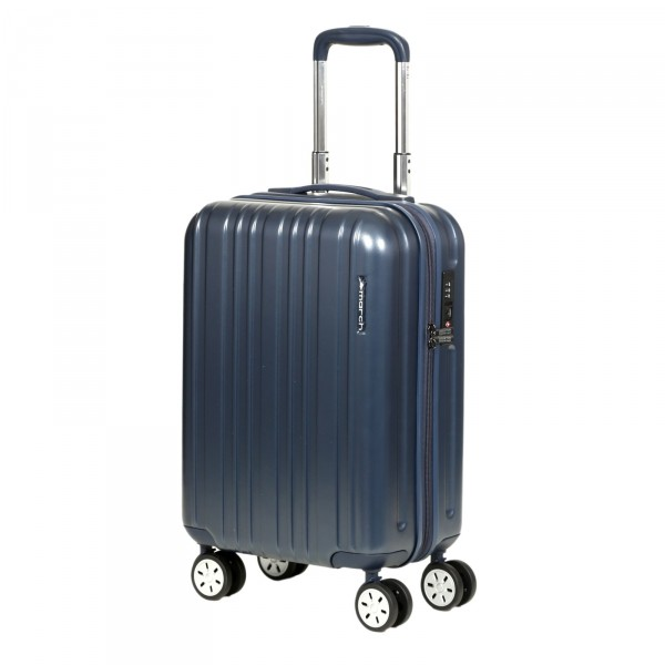 March15 Omega Trolley 55 cm 4 Rollen night blue Frontansicht