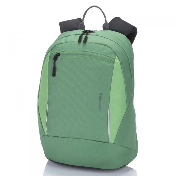 travelite Basics Rucksack 37 cm grün - Frontansicht