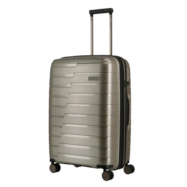 travelite Air Base Trolley 67 cm 4 Rollen erweiterbar champagner