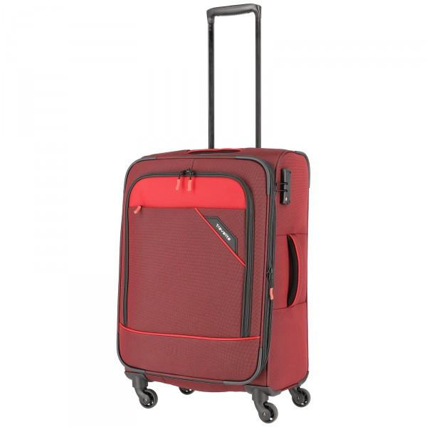 travelite Derby Modell 2018 Trolley 66 cm 4 Rollen erweiterbar rot Schrägansicht