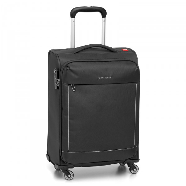 Roncato Connection Trolley 66 cm 4 Rollen erweiterbar nero - Frontansicht
