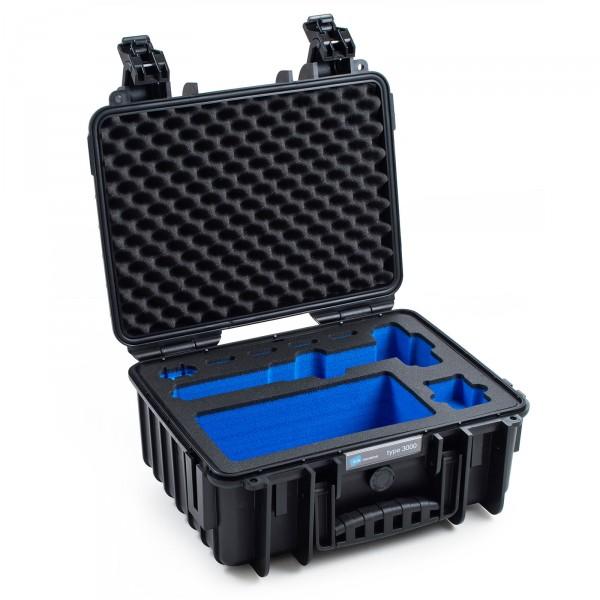 B&W GoPro Case Typ 3000 schwarz für GoPro Karma Grip Front leer