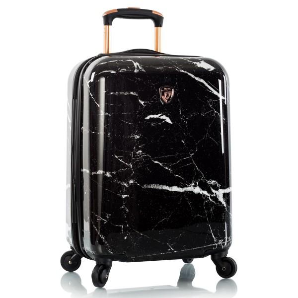 Heys Marquina Trolley 53 cm 4 Rollen Erweiterbar Black Marble