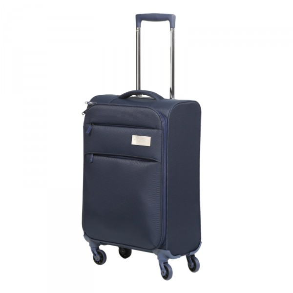 March15 Polo Trolley 55 cm 4 Rollen navy Schrägansicht