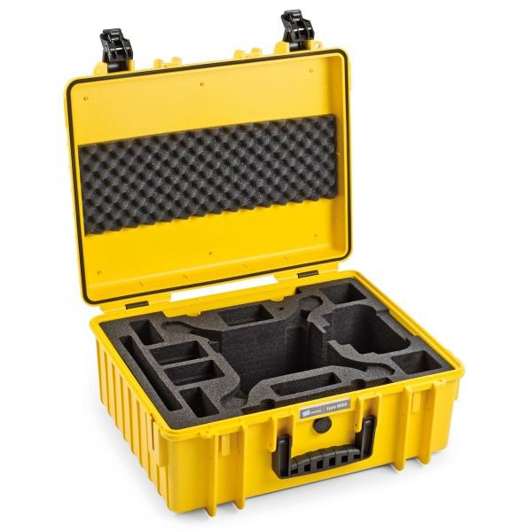 B&W Outdoor Case Typ 6000 Gelb für DJI Phantom 4 / 4 Pro / 4 Pro Plus / 4 Advanced offen
