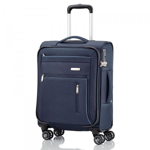 Travelite Capri Kabinentrolley 55 cm 4 Rollen blau Frontansicht