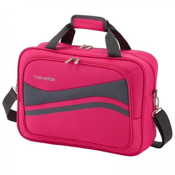 travelite Wave Bordtasche 30 cm pink Schrägansicht