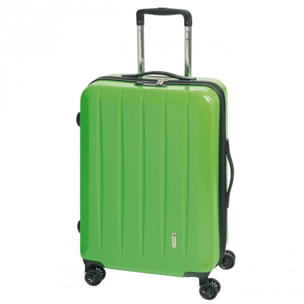 CHECK.IN London 2.0 Trolley 75 cm 4 Rollen erweiterbar green Frontansicht