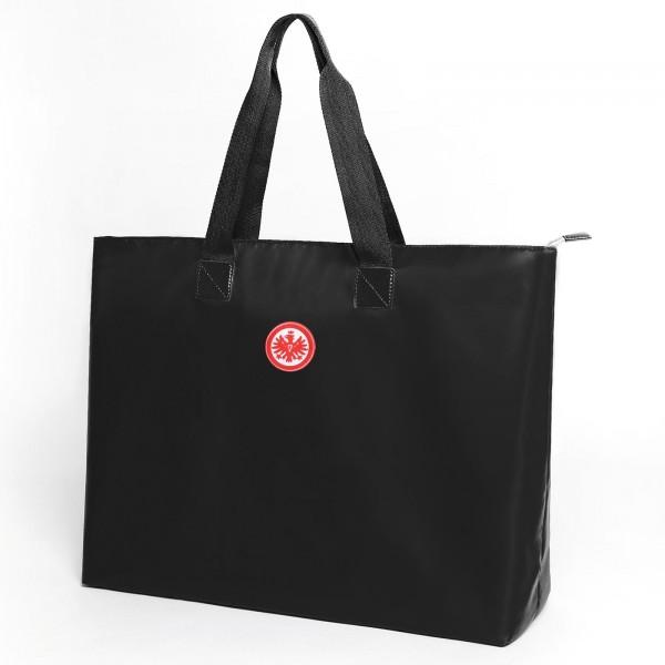 Eintracht Frankfurt Shopper Strandtasche schwarz Front