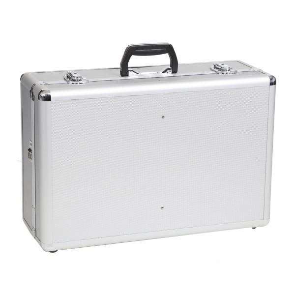 bwh Koffer Alukoffer Typ RS1 silber mit Schaumstoffeinsatz und Tragegurt silber