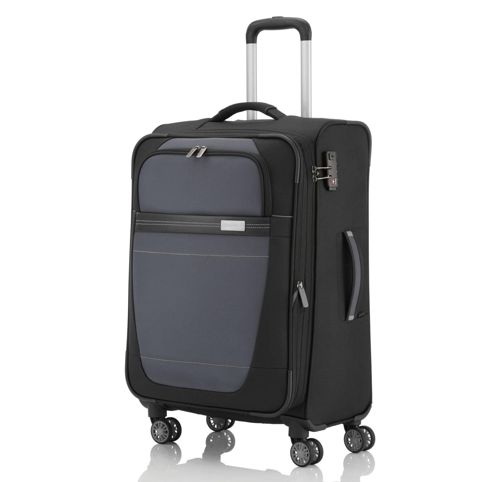 travelite meteor trolley 77 cm 4 rollen erweiterbar g nstig kaufen koffermarkt. Black Bedroom Furniture Sets. Home Design Ideas