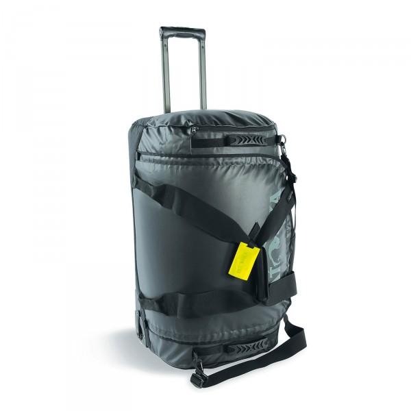 Tatonka Barrel Roller Trolley-Reisetasche 75 cm 2 Rollen schwarz Frontansicht