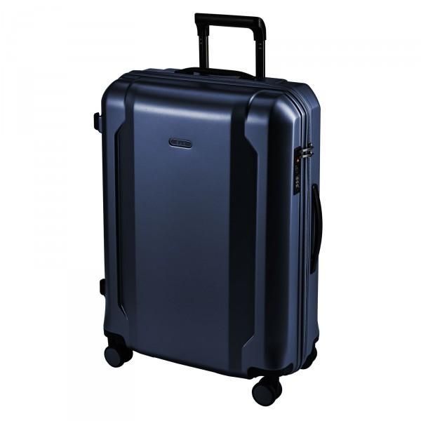 d&n Travel Line 8100 Trolley 65 cm 4 Rollen blau Schrägansicht