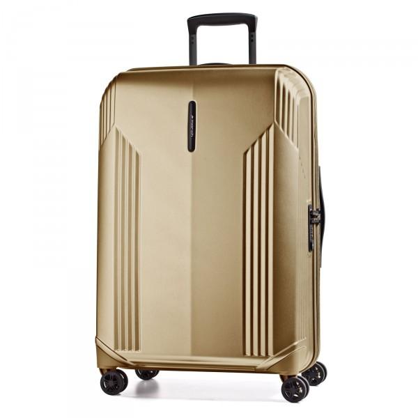 March15 New Manhattan Trolley 79 cm 4 Rollen gold alu Frontansicht