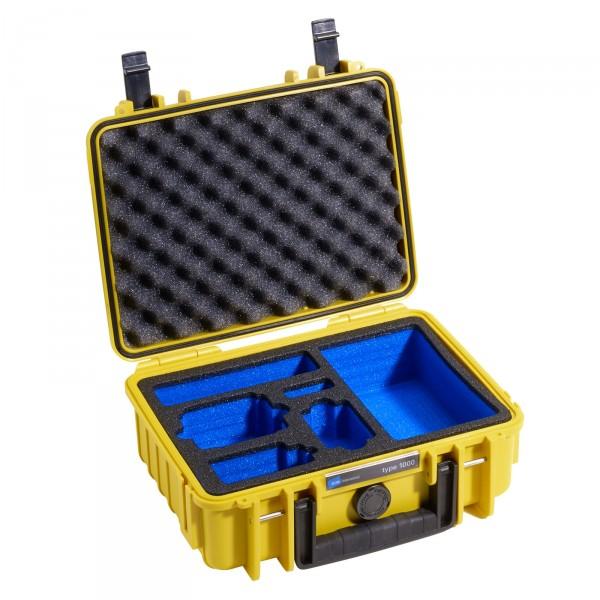 B&W GoPro Case Typ 1000 gelb mit Schaumstoffeinsatz für GoPro HERO3 - Frontansicht