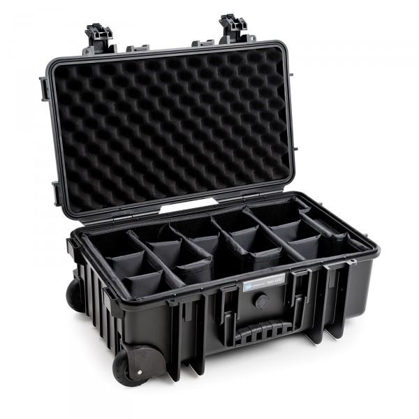 B&W Outdoor Case Typ 6600 2 Rollen black