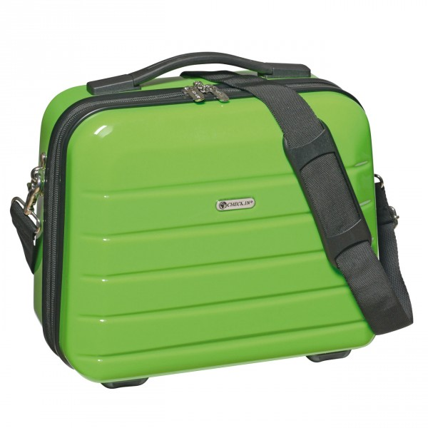 CHECK.IN London 2.0 Beautycase 33 cm green Frontansicht