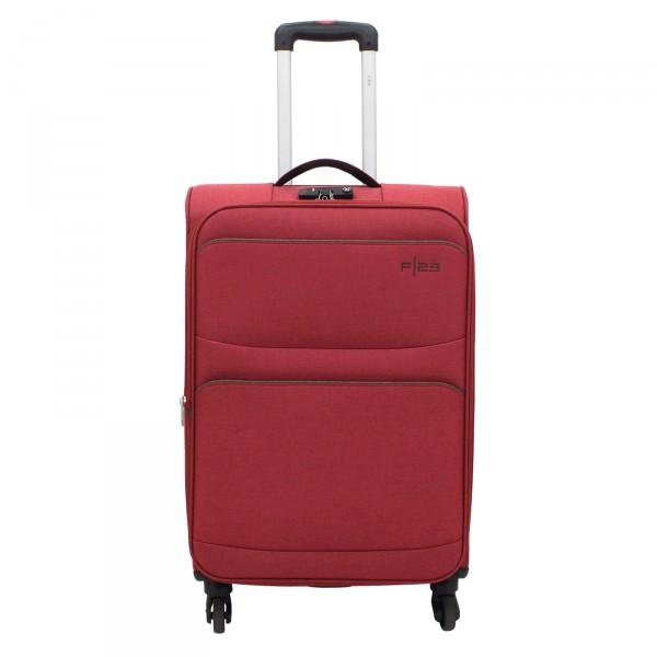 F23 Santa Cruz 2.0 Trolley rot/ braun 66 cm 4 Rollen erweiterbar - Frontansicht