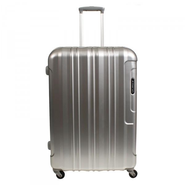 March15 Cosmopolitan Trolley 66 cm 4 Rollen Silber Alu-Look - Frontansicht