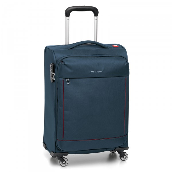 Roncato Connection Trolley 66 cm 4 Rollen erweiterbar blu - Frontansicht