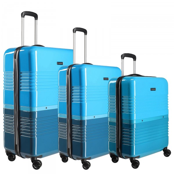 travelite Frisco Trolley Set 3-teilig blau